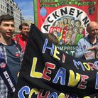 Hackney teachers went on strike and marched to Parliament on Tuesday