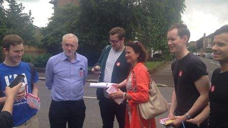 Hornsey and Wood Green MP Catherine West out campaigning with Jeremy Corbyn yesterday