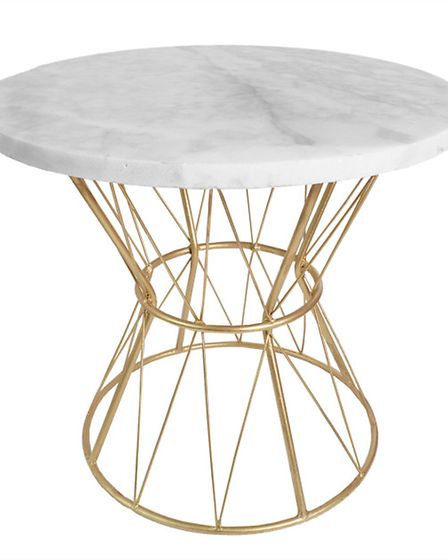 Marbles a favourite for side tables, and MiaFleur has a beautiful Marble And Brass Side Table, �325