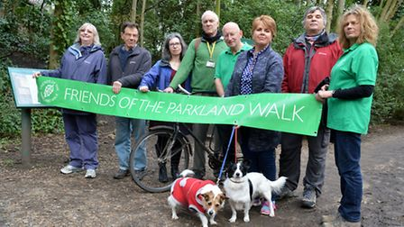 The Friends of Parkland Walk have fought tirelessly for no vehicles on the nature trail. Photo: Poll