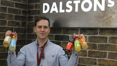 Duncan O'Brien with the resdesigned bottles