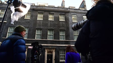 Journalists begin to gather in Downing Street ahead of Brexit cabinet meeting. Photograph: Victoria