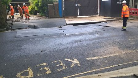 Avenue Road has now been cleared. Photo: Thames Water