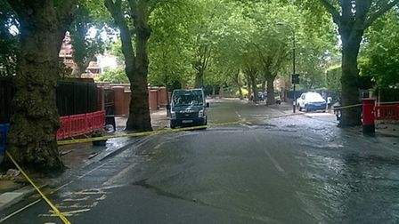 Avenue Road this morning. Photo: London Fire Brigade