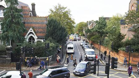The daily school-runs cause traffic queues in Fitzjohn's Avenue and Arkwright Road.