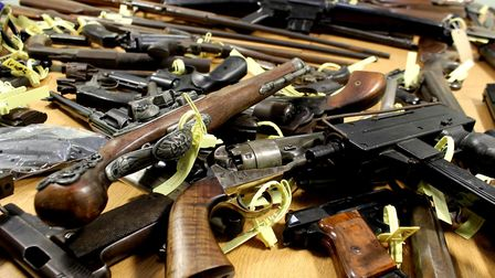 Guns handed in during an 11 day gun amnesty in Norfolk and Suffolk. Photo: Archant library.