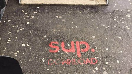 The costly graffiti covering Shoreditch's streets. (Picture: Rich Pleeth)