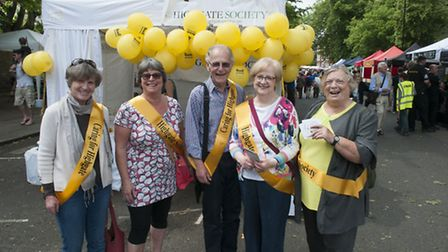 The Highgate Society celebrates its 50th anniversary at Fair in the Square. Photo: Nigel Sutton