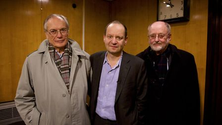 Horst Von Wachter, Philippe Sands and Niklas Frank behind the scenes of My Nazi Legacy. Picture: Ker