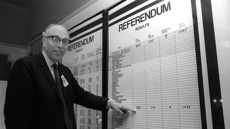 Sir Philip Allen, 62, the Chief Counting Officer for the referendum at Earls Court in London. Pictur