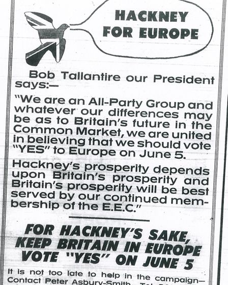Referendum campaign copy from 1975