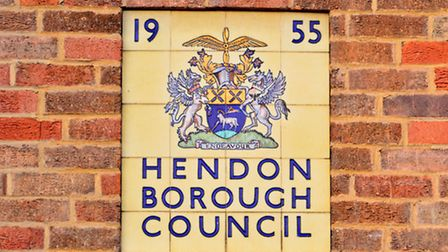 1950s Hendon Borough Council plaque