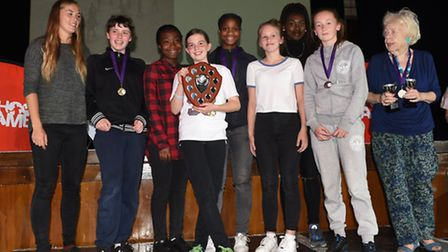 The Outstanding Girls Team award went to the borough's football side, which came third at the London
