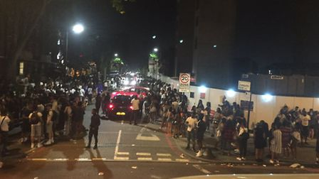 Hundreds of youngsters flocked to Stamford Hill for the rave. (Picture: Lydia Darling).