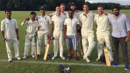 The victorious Coach & Horses team