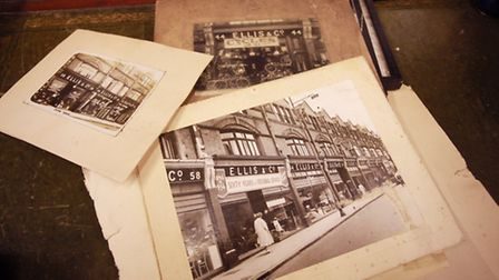 Selection of vintage photos of Hornsey High Street in Palace Antiques