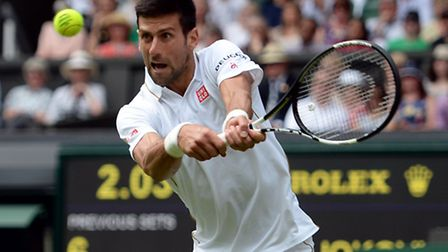 Novak Djokovic won in straight sets