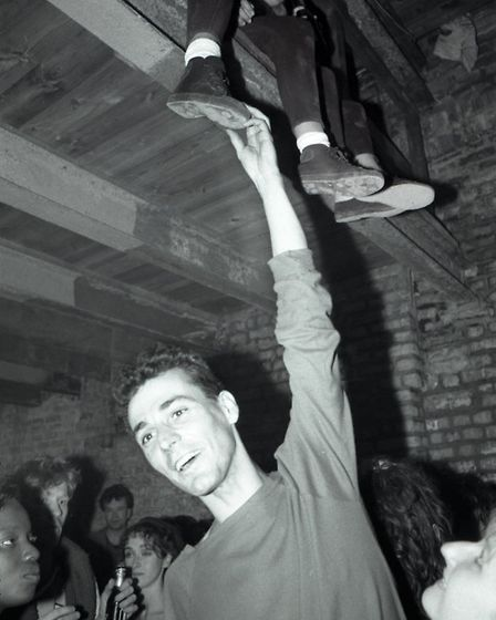Dave Swindells' photo taken at a warehouse party in one of the little side streets off Great Eastern