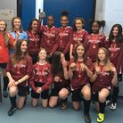 Stoke Newington Girls U14s after their London Cup victory