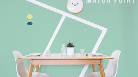 The Match point wall mural, from 23.50 per square metre, available from Murals Wallpaper. PA Photo/H
