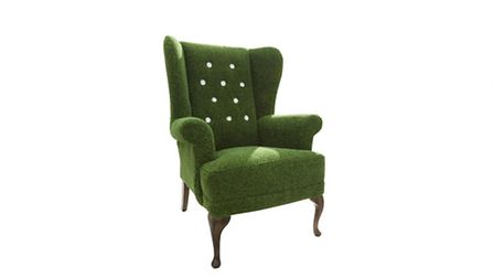 Grass archair, upholstered in artificial grass with daisy detailing, from 1,190, available from Besp