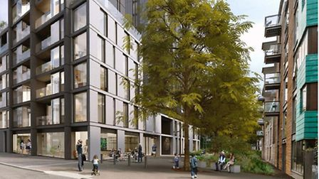 An artist's impression of what the school in Nile Street will look like