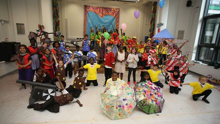 Newington Green Primary School has been transformed into a theatre and held a performance of their m