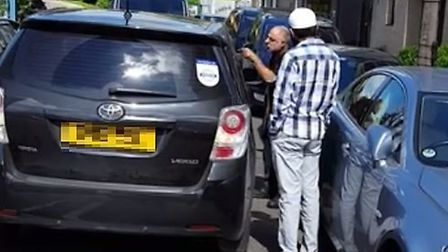 The road rage incident was filmed on Friday morning. Picture: Shulem Sterm/ViralHog