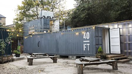 Brewing takes place in shipping containers at 40 ft