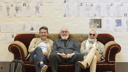 Adrian Lukis, Peter Egan and Nicholas Day in rehearsals. Picture: Johan Persson
