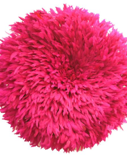 Cameroonian Ju Ju hat, pink, �195, available from Design My World. PA Photo/Handout
