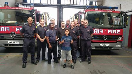 Constantin, his carer Ally, Ally's grandson and Homerton white watch
