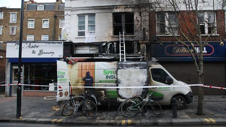 The scene of the fire in Mare Street