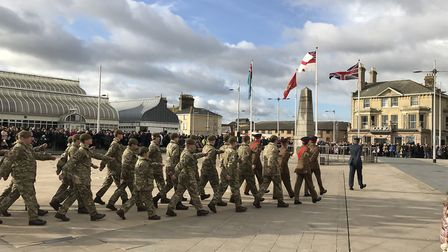 Remembrance Sunday service 2017 at the War Memorial on Lowestoft's Royal Plain. Picture: Thomas Chap