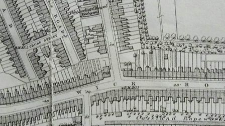 A map from 1870 shows the pub at the corner of Wick Road and Church Road, now Barnabas Road. (Pictur