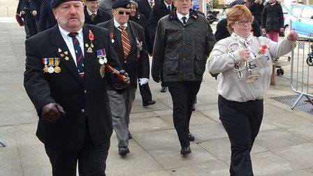 Remembrance Sunday service 2017 at the War Memorial on Lowestoft's Royal Plain. Picture: Mick Howes