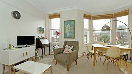 The large reception room has plenty of space to cook, dine and relax in style