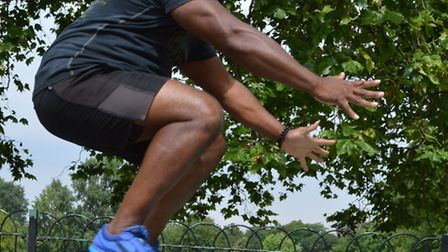 Dominic Benjamin in Clissold Park, near the gym where he is locked in a strange battle with personal