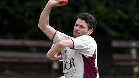 Joel Hughes has taken 100 wickets for North Middlesex in the Premier Division. Pic: Paolo Minoli