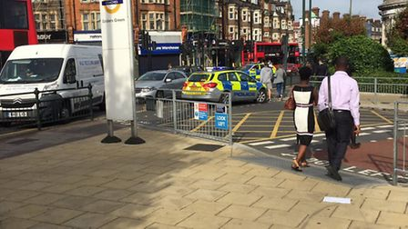Golders Green station was evacuated after security alert Pic credit: @im725555
