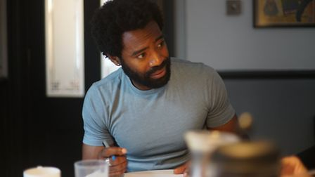 Nicholas Pinnock at 'Candice' Readthrough. Picture: Turn The Slate Productions & Big Smile Pictures�