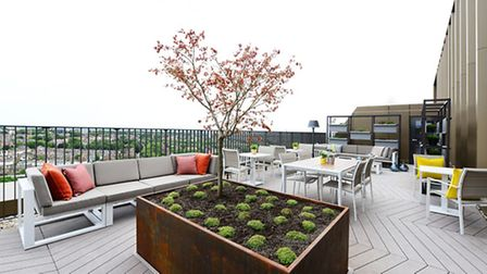 The communal residents' terrace