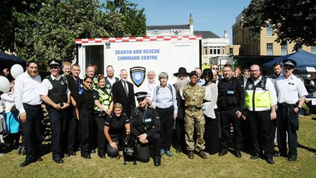 Dignitaries gather for a group photo at the Shomrim Open Day