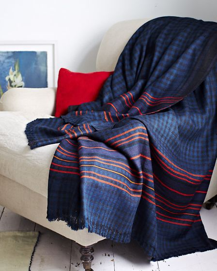 Handwoven 100 per cent wool blanket by Khadi & Co, �575 from the Selvedge drygoods store in Highgate