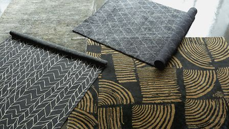 Left to right: Farrow rug �350, Kygo rug �195, Otting rug �795 and Kabala rug �395, all from Habitat