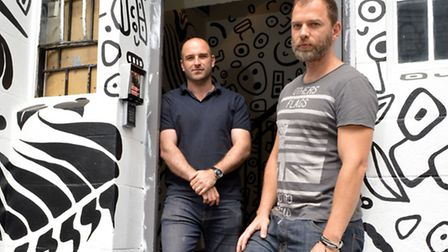 'Killing our business': Yuval Hena and Richard Urban outside the venue (Picture: Polly Hancock)