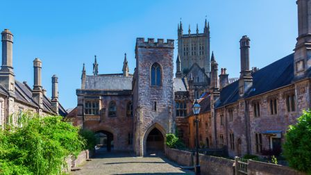A view of Wells, Somerset