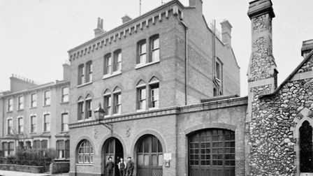 Hackney fire station in the 1870s (Picture: London Fire Brigade)