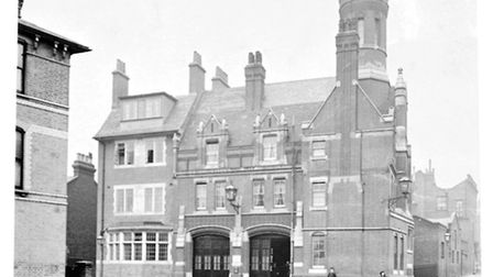 Stoke Newington fire station, which closed in 1974, pictured in 1890 (Picture: London Fire Brigade)