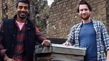 Meetal Patel and John Leiper who producec Pearly Queen beer with their honey